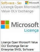 Licen�a Open Microsoft Value OLV Exchange Server Enterprise SNGL Software Assurance No Level Additional Product 2 Year Acquired year 2  (Figura somente ilustrativa, n�o representa o produto real)