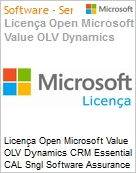 Licença Open Microsoft Value OLV Dynamics CRM Essential CAL Sngl Software Assurance 1 License No Level Additional Product Device CAL Device CAL 1 Year Acquired y (Figura somente ilustrativa, não representa o produto real)