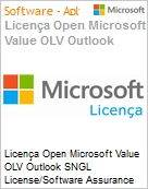 Licença Open Microsoft Value OLV Outlook SNGL License/Software Assurance Pack [LicSAPk] No Level Additional Product 1 Year Acquired year 2  (Figura somente ilustrativa, não representa o produto real)