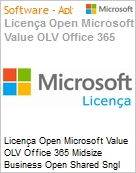 Licença mensal Microsoft Value OLV Office 365 Midsize Business Shared Sngl Monthly Subscriptions-Volume License 1 License No Level Additional Product Platform (Figura somente ilustrativa, não representa o produto real)
