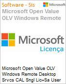 Licen�a Open Microsoft Value OLV Windows Remote Desktop Srvcs CAL SNGL [LicSAPk] User CAL 1Y1Ap  (Figura somente ilustrativa, n�o representa o produto real)