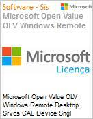Licen�a Open Microsoft Value OLV Windows Remote Desktop Srvcs CAL Device SNGL [LicSAPk] 1Y2Ap  (Figura somente ilustrativa, n�o representa o produto real)