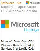 Licen�a Open Microsoft Value OLV Windows Remote Desktop Services SNGL [LicSAPk] CAL Device 3Y1Ap  (Figura somente ilustrativa, n�o representa o produto real)