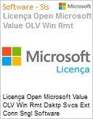 Licença Open Microsoft Value OLV Win Rmt Dsktp Svcs Ext Conn Sngl Software Assurance 1 License No Level Additional Product 1 Year Acquired year 2 (Figura somente ilustrativa, não representa o produto real)