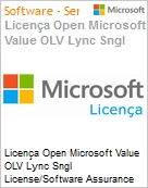 Licença Open Microsoft Value OLV Lync Sngl License/Software Assurance Pack [LicSAPk] 1 License No Level Additional Product 1 Year Acquired year 2 (Figura somente ilustrativa, não representa o produto real)