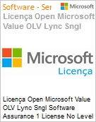 Licença Open Microsoft Value OLV Lync Sngl Software Assurance 1 License No Level Additional Product 3 Year Acquired year 1  (Figura somente ilustrativa, não representa o produto real)