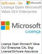 Licença Open Microsoft Value OLV Enterprise CAL Sngl License/Software Assurance Pack [LicSAPk] 1 License No Level Additional Product User CAL User CAL w/ Services 1 Year A (Figura somente ilustrativa, não representa o produto real)