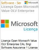 Licença Open Microsoft Value OLV Enterprise CAL Sngl Software Assurance 1 License No Level Additional Product User CAL User CAL w/ Services 1 Year Acquired year (Figura somente ilustrativa, não representa o produto real)