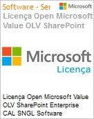 Licen�a Open Microsoft Value OLV SharePoint Enterprise CAL SNGL Software Assurance No Level Additional Product User CAL User CAL 1 Year Acquired year 3 (Figura somente ilustrativa, n�o representa o produto real)