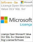 Licença Open Microsoft Value OLV SQL Svr Standard Core Sngl License/Software Assurance Pack [LicSAPk] 2 Licenses No Level Additional Product Core License 3 Year Acquired y (Figura somente ilustrativa, não representa o produto real)