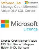 Licença Open Microsoft Value OLV SQL Server Enterprise Edition SNGL Software Assurance No Level Additional Product 1 Year Acquired year 2  (Figura somente ilustrativa, não representa o produto real)