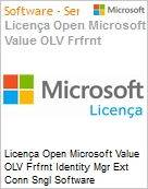 Licença Open Microsoft Value OLV Frfrnt Identity Mgr Ext Conn Sngl Software Assurance 1 License No Level Additional Product 1 Year Acquired year 1 (Figura somente ilustrativa, não representa o produto real)