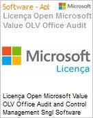 Licença Open Microsoft Value OLV Office Audit and Control Management SGNL Software Assurance 1 License No Level Additional Product 1 Year Acquired year 1 (Figura somente ilustrativa, não representa o produto real)