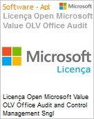 Licença Open Microsoft Value OLV Office Audit and Control Management Sngl License/Software Assurance Pack [LicSAPk] 1 License No Level Additional Product 3 Year Acquired y (Figura somente ilustrativa, não representa o produto real)