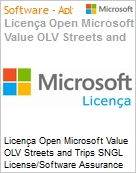 Licença Open Microsoft Value OLV Streets and Trips SGNL License/Software Assurance Pack [LicSAPk] No Level Additional Product 1 Year Acquired year 1 (Figura somente ilustrativa, não representa o produto real)