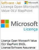 Licença Open Microsoft Value OLV MapPoint SNGL License/Software Assurance Pack [LicSAPk] No Level Additional Product 1 Year Acquired year 3  (Figura somente ilustrativa, não representa o produto real)