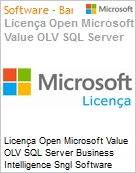 Licença Open Microsoft Value OLV SQL Server Business Intelligence SGNL Software Assurance 1 License No Level Additional Product 1 Year Acquired year 3 (Figura somente ilustrativa, não representa o produto real)