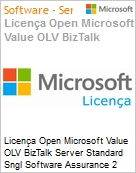 Licença Open Microsoft Value OLV BizTalk Server Standard Sngl Software Assurance 2 Licenses No Level Additional Product Core License 3 Year Acquired year 1 (Figura somente ilustrativa, não representa o produto real)