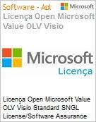 Licença Open Microsoft Value OLV Visio Standard SNGL License/Software Assurance Pack [LicSAPk] No Level Additional Product 1 Year Acquired year 2 (Figura somente ilustrativa, não representa o produto real)