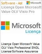 Licença Open Microsoft Value OLV Visio Professional SNGL License/Software Assurance Pack [LicSAPk] No Level Additional Product 2 Year Acquired year 2 (Figura somente ilustrativa, não representa o produto real)