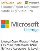 Licença Open Microsoft Value OLV Visio Professional SNGL Software Assurance No Level Additional Product 1 Year Acquired year 2  (Figura somente ilustrativa, não representa o produto real)