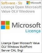 Licença Open Microsoft Value OLV Windows MultiPoint Server CAL Sngl License/Software Assurance Pack [LicSAPk] 1 License No Level Additional Product User CAL User CAL 1 Yea (Figura somente ilustrativa, não representa o produto real)