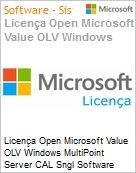 Licença Open Microsoft Value OLV Windows MultiPoint Server CAL Sngl Software Assurance 1 License No Level Additional Product User CAL User CAL 3 Year Acquired ye (Figura somente ilustrativa, não representa o produto real)