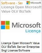 Licença Open Microsoft Value OLV BizTalk Server Enterprise Sngl License/Software Assurance Pack [LicSAPk] 2 Licenses No Level Additional Product Core License 1 Year Acqui (Figura somente ilustrativa, não representa o produto real)