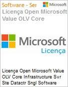 Licença Open Microsoft Value OLV Intel Core infrastructure Svr Ste Datactr SGNL Software Assurance 1 License No Level Additional Product 2 PROC 1 Year Acquired year 1 (Figura somente ilustrativa, não representa o produto real)