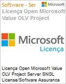 Licença Open Microsoft Value OLV Project Server SGNL License/Software Assurance Pack [LicSAPk] No Level Additional Product 1 Year Acquired year 3 (Figura somente ilustrativa, não representa o produto real)