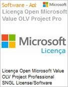 Licen�a Open Microsoft Value OLV Project Professional SNGL License/Software Assurance Pack [LicSAPk] No Level Addtl Prod w/1 ProjectSvr CAL 1 Year Acq year 3 (Figura somente ilustrativa, n�o representa o produto real)