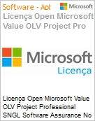 Licen�a Open Microsoft Value OLV Project Professional SNGL Software Assurance No Level Additional Product w/1 ProjectSvr CAL 1 Year Acquired year 3 (Figura somente ilustrativa, n�o representa o produto real)