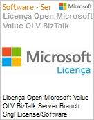 Licença Open Microsoft Value OLV BizTalk Server Branch Sngl License/Software Assurance Pack [LicSAPk] 2 Licenses No Level Additional Product Core License 2 Year Acquired y (Figura somente ilustrativa, não representa o produto real)