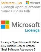 Licença Open Microsoft Value OLV BizTalk Server Branch Sngl Software Assurance 2 Licenses No Level Additional Product Core License 1 Year Acquired year 3 (Figura somente ilustrativa, não representa o produto real)
