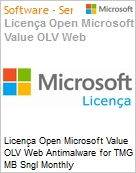 Licen�a mensal Microsoft Value OLV Web Antimalware for TMG MB Sngl Monthly Subscriptions-Volume License 1 License No Level Additional Product Per User 1 Month (Figura somente ilustrativa, n�o representa o produto real)