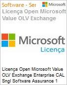 Licença Open Microsoft Value OLV Exchange Enterprise CAL Sngl Software Assurance 1 License No Level Additional Product User CAL User CAL w/ Services 1 Year Acqui (Figura somente ilustrativa, não representa o produto real)