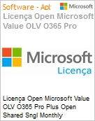 Licença mensal Microsoft Value OLV Office 365 Pro Plus Shared Sngl Monthly Subscriptions-Volume License 1 License No Level Additional Product 1 Month (Figura somente ilustrativa, não representa o produto real)