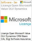 Licença Open Microsoft Value OLV Dynamics CRM Basic CAL Sngl Software Assurance 1 License No Level Additional Product Device CAL Device CAL 1 Year Acquired year (Figura somente ilustrativa, não representa o produto real)