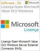 Licença Open Microsoft Value OLV Windows Server External Connector SNGL License/Software Assurance Pack [LicSAPk] No Level Additional Product 1 Year Acquired year 3 (Figura somente ilustrativa, não representa o produto real)