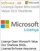 Licen�a Open Microsoft Value OLV OneNote SNGL License/Software Assurance Pack [LicSAPk] No Level Additional Product 1 Year Acquired year 3  (Figura somente ilustrativa, n�o representa o produto real)