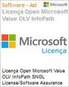 Licença Open Microsoft Value OLV InfoPath SNGL License/Software Assurance Pack [LicSAPk] No Level Additional Product 1 Year Acquired year 1  (Figura somente ilustrativa, não representa o produto real)