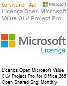 Licen�a mensal Microsoft Value OLV Project Pro for Office 365 Shared Sngl Monthly Subscriptions-Volume License 1 License No Level Additional Product 1 Month (Figura somente ilustrativa, n�o representa o produto real)