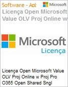 Licença mensal Microsoft Value OLV Proj Online w Proj Pro Office 365 Shared Sngl Monthly Subscriptions-Volume License 1 License No Level Additional Product 1 Month (Figura somente ilustrativa, não representa o produto real)
