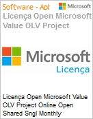 Licença mensal Microsoft Value OLV Project Online Open Shared Sngl Monthly Subscriptions-Volume License 1 License No Level Additional Product 1 Month (Figura somente ilustrativa, não representa o produto real)
