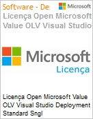 Licença Open Microsoft Value OLV Visual Studio Deployment Standard Sngl License/Software Assurance Pack [LicSAPk] 1 License No Level Additional Product 2 PROC 1 Year Acqui (Figura somente ilustrativa, não representa o produto real)