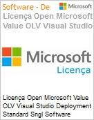 Licença Open Microsoft Value OLV Visual Studio Deployment Standard Sngl Software Assurance 1 License No Level Additional Product 2 PROC 1 Year Acquired year 1 (Figura somente ilustrativa, não representa o produto real)