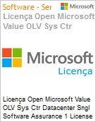 Licença Open Microsoft Value OLV Sys Ctr Datacenter Sngl Software Assurance 1 License No Level Additional Product 2 PROC 1 Year Acquired year 2 (Figura somente ilustrativa, não representa o produto real)