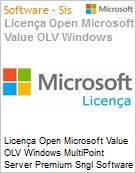 Licença Open Microsoft Value OLV Windows MultiPoint Server Premium Sngl Software Assurance 1 License No Level Additional Product 1 Year Acquired year 3 (Figura somente ilustrativa, não representa o produto real)