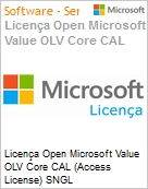 Licença Open Microsoft Value OLV Core CAL (Access License) SNGL License/Software Assurance Pack [LicSAPk] No Level Addtl Prod User CAL 1 Year Acq year 1 (Figura somente ilustrativa, não representa o produto real)
