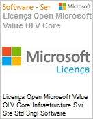 Licença Open Microsoft Value OLV Intel Core infrastructure Svr Ste Std SGNL Software Assurance 1 License No Level Additional Product 2 PROC 2 Year Acquired year 2 (Figura somente ilustrativa, não representa o produto real)